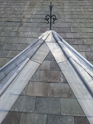 Photo of detailed roof slate