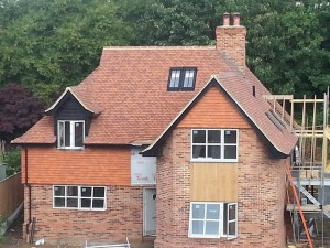 Extension tile roofing